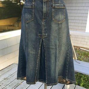 Levi Strauss Denim Skirt Size 10 Medium To Dark Wa